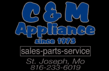 C & M Appliance Logo